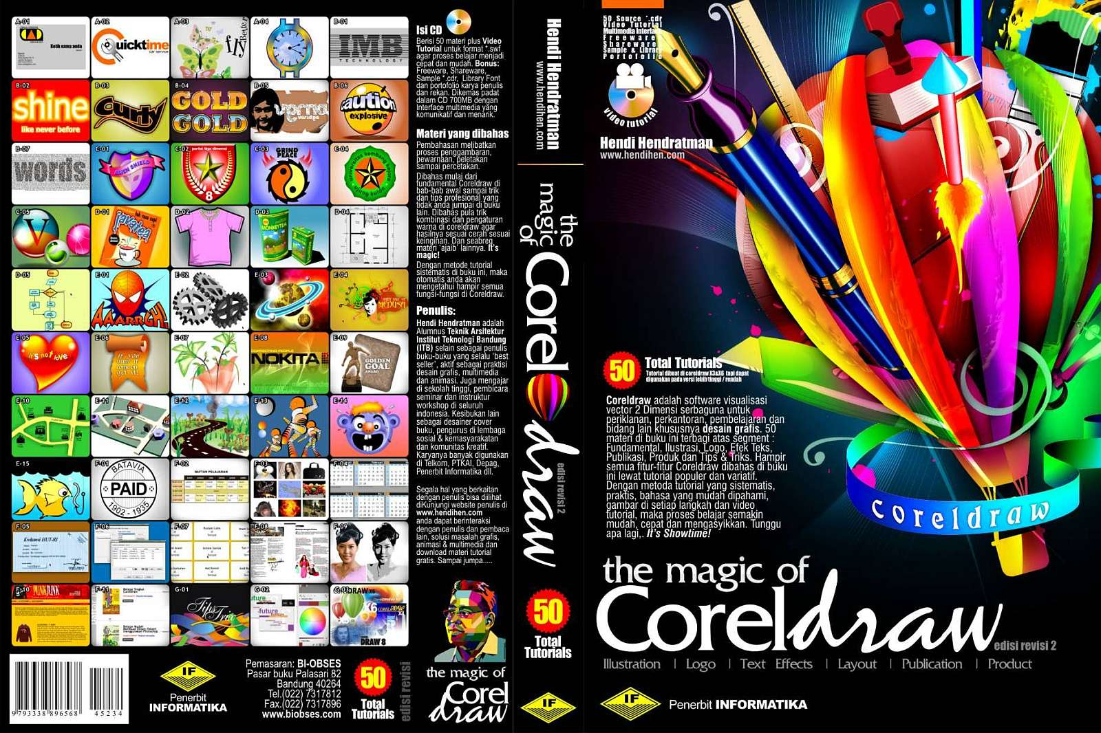 Buku CorelDRAW X3,X4,X5,X6 Video Tutorial Indonesia Pemula Best Seller